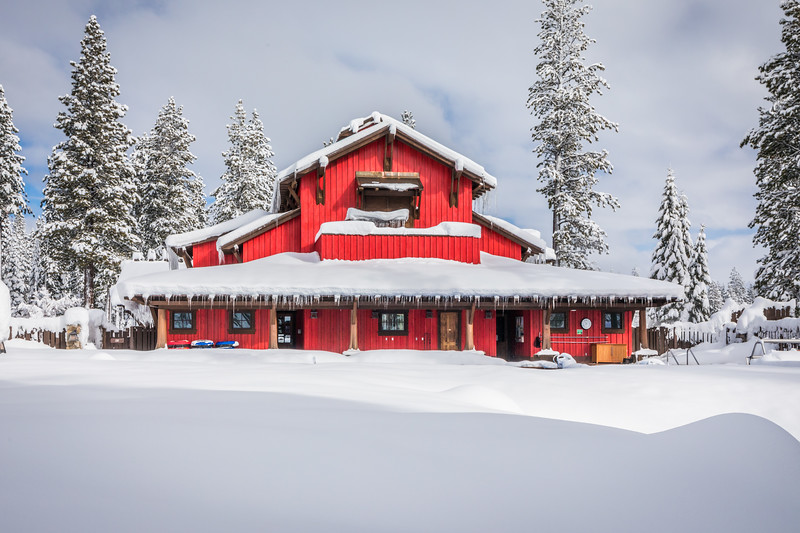 Martis Camp Family Barn Snow