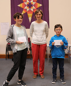 Jenni Rochford and Isaac Kim - joint u75 runners-up