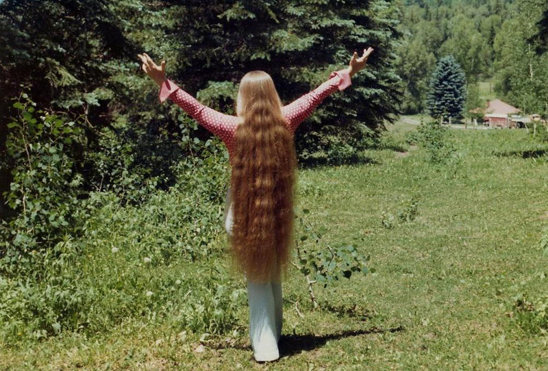 "Marvel's last day with her long hair - at The Pass.  Mother was very tearful but went with me to the old ""beauty operator"" to have it cut the next day.  Mother took each strand cut and re-braided it and keep it for 25 years."