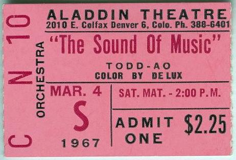 "Alan Baldwin and I drove from Pagosa to Denver to see the opening of ""The Sound of Music"".  He was teaching school in Cortez to be near me and I was in nursing school in Durango."