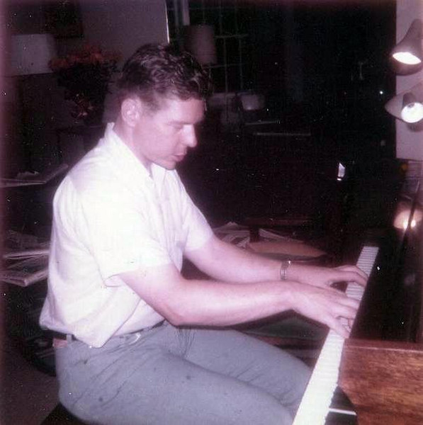 """Alan playing """"More"""" for me on his family grand piano at this parents home in Wisconsin.  He was a concert pianist and use to be 1st chair baritone in the Chicago Symphony when in College there."""