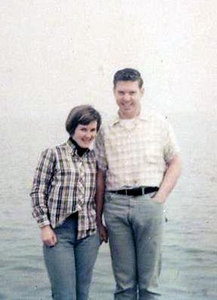 Marvel and Alan Baldwin on the lake edge in Chicago on return trip to Colorao. Easter 1967. I flew into Denver and we drove to his parents in Wisconsin and then back to Denver and I flew back to Durango.
