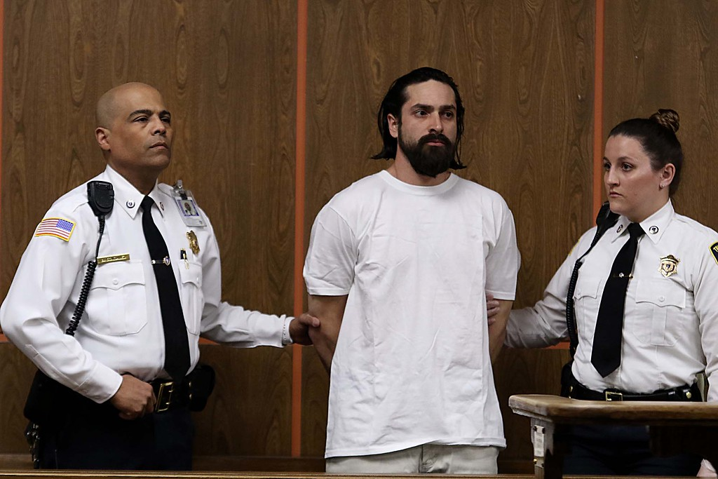 . Marvin Brito in Fitchburg District Court on Wednesday just  after noon. SENTINEL & ENTERPRISE/JOHN LOVE