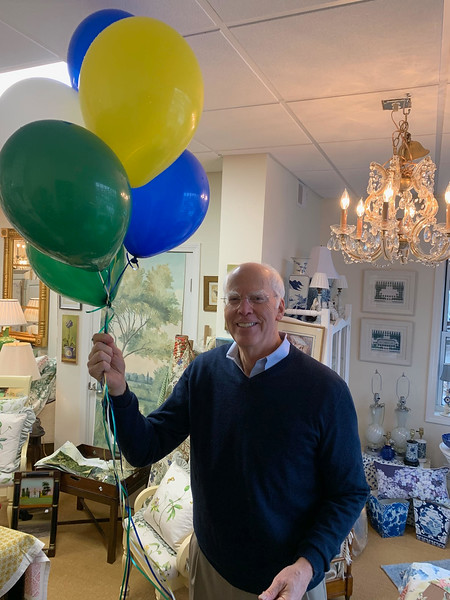 Don Main of Chelmsford knows it's not a party without balloons.