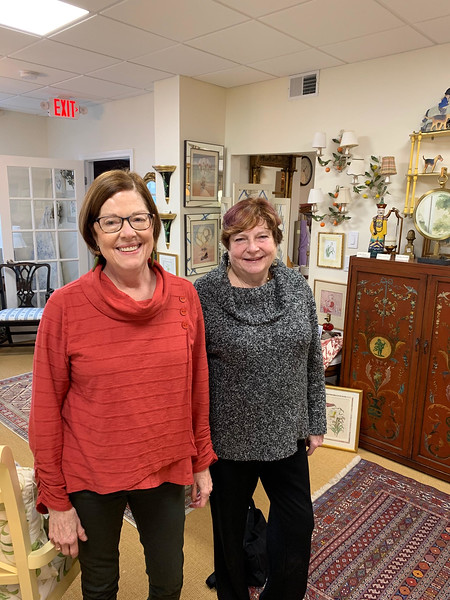 Chelmsford Center for the Arts  pARTners Kit Harbison and Barbara Reilly, both of Chelmsford