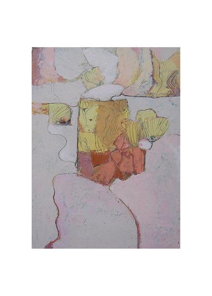 encaustic wax & oils on cradled wood panel 20''x16''
