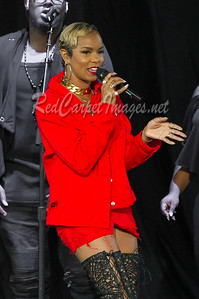 STERLING HEIGHTS, MI - AUGUST 01:  LeToya Luckett performs on stage at Michigan Lottery Amphitheatre on August 1, 2017 in Sterling Heights, Michigan.  (Photo by Aaron J. / RedCarpetImages.net)