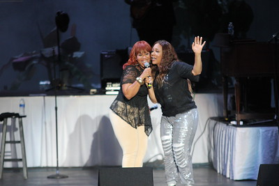 Mary Mary performs live at the Dell Music Center in Philadelphia, PA