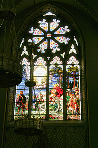 Artwork in the Catholic Cathedral of Helena where Mary Pat and the other Powers attended services.