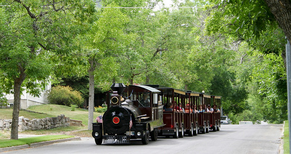 The Tour Train gave us a one-hour orientation trip around Helena's highlights