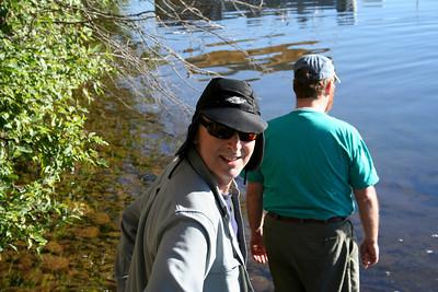 Matt and Geoff going to the Kayaks