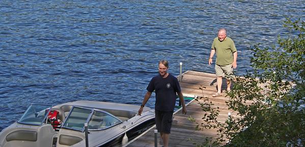 Matt and Neil on the Boat Dock