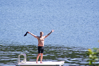 Matt on the Swim Dock