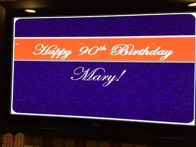 Mary Pinto's 90th Birthday Party