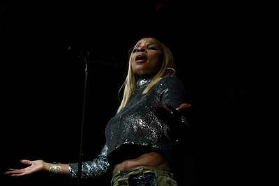 Close-Up Images of 2- time 2018 Oscar Nominee, Mary J. Blige, performing live at the Borgata Casino & Resort at the Event Center in Atlantic City, New Jersey