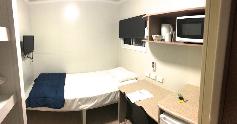 "After the races at Maryborough I retired to my 7' x 7' ""van"" room at Ned Kelly's Motel."