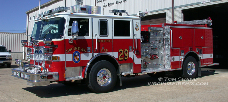 Silver Hill Volunteer Fire Department<br /> Prince George's County, MD Company 29<br /> Engine 291<br /> 2005 Pierce Arrow XT 1250/500<br /> Pierce #17037