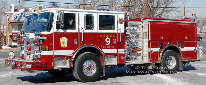 Bladensburg VFD<br /> Prince George's County, MD Company 9<br /> Engine 94<br /> 2008 Pierce Arrow XT 1250/500<br /> Pierce #20903
