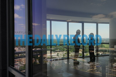 6.17.10 BALTIMORE, MD -Views of the North Bethesda area from the penthouse of the aperment tower at the  North Bethesda Market Construction Project. Photo by Maximilian Franz/ The Daily Record