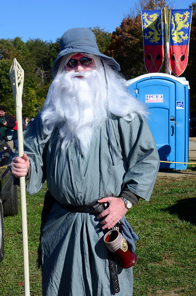 """Thou shall not pass!"" Gandolf at the Maryland Renaissance Festival, Crownsville, Maryland, October 13, 2012"