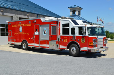 An officer side view of Carroll County's Decon 30.
