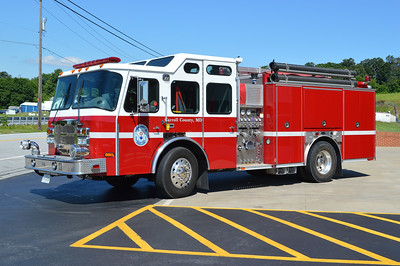 Carroll County's reserve engine is this 2007 E-One Typhoon that goes by the designation of Reserve Engine 252.  It is equipped with a 1500/970/30 and has E-One serial number 132454.  It was originally a demo from E-One.  Reserve Engine 252 was photographed filling in at Winfield, Maryland.