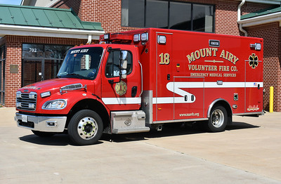Mount Airy, Maryland Ambulance 18, a 2015 Freightliner M2 built by PL Custom.