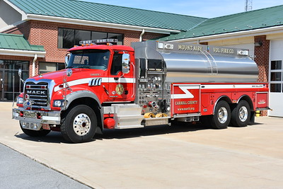 Mount Airy, Maryland in Carroll County - Tanker 1.  A 2011 Mack Granite GU713/4-Guys with a 1500/3500 and serial number F2755.