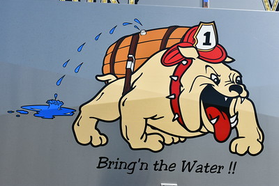 """Bring'n the Water!!"", as found on Mount Airy's Tanker 1, a 2011 Mack Granite/4-Guys with 3,500 gallons of water."