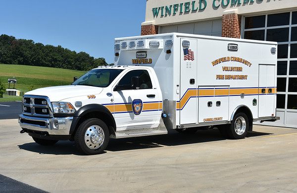 Ambulance 149 from Winfield, Maryland is this 2016 Dodge Ram 5500/Road Rescue.