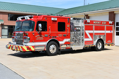 Engine 12 from Mount Airy, Maryland is this 2011 Spartan Metro Star/Rosenbauer with a 1500/1000/30/30 and serial number 3254.