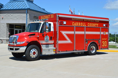 Carroll County's HAZMAT 30 is stationed at New Windsor Station 10.  The HAZMAT is a 2009 International 4400/Pierce Encore with job number 22338.  At one point, this truck also served as Advanced Technical Rescue 30.