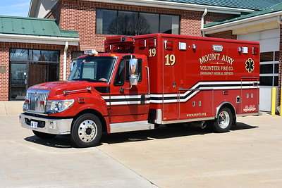 Photographed in April of 2017 shortly after former Ambulance 19 was offered for sale - a 2013 International TerraStar with a 2012 Horton ambulance body.