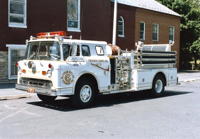 Thurmont's former Engine 101, a 1967 Ford C/Hahn, 750/500.  Traded in to a Pierce dealer in 1992.