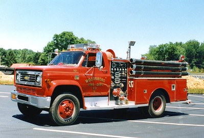 Engine 161 from Woodsboro was a 1973 Chevy C60/Fire Masters, 750/500.
