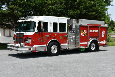 Woodsboro, Maryland in Frederick County - Engine 161 is a 2008 Spartan/Smeal Sirius 1250/1000/40.  SO# 3457.