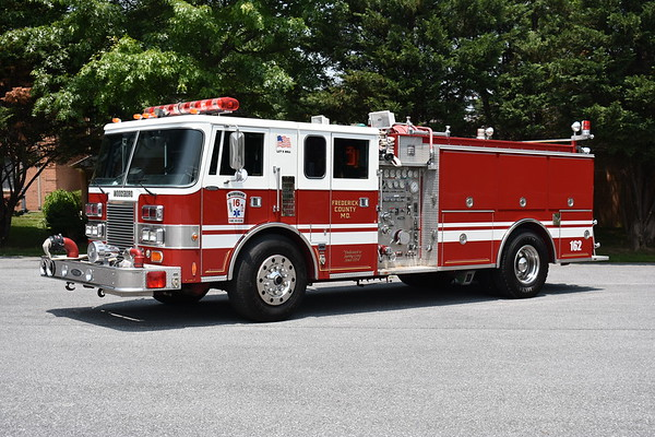 Woodsboro, Maryland in Frederick County - Engine 162 is a 1989 Pierce Lance equipped with a 1250/1000 and job number E-5216.