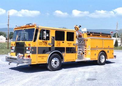 Lewistown's Engine 221, a 1985 Spartan/Grumman, 1000/1000, sn- 17395.