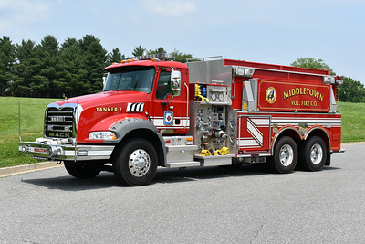 Middletown, Maryland (Frederick County) Tanker 7 is a 2009 Mack Granite/Pierce  1250/3000 and Pierce job number 22134.