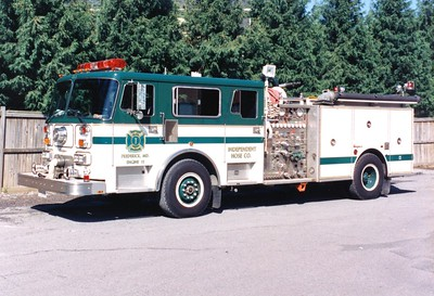 Independent's former Engine 11, a 1988 Seagrave HB, 1250/500.