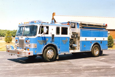 Former Engine-Tanker 114, a 1988 Pierce Lance, 1000/1500, sn- E4068.  Sold to DuBois, Pennsylvania, in 2009.