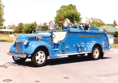 Walkersville's antique 1940 Ford/Howe, 350/200.  Rehabbed in 1976.