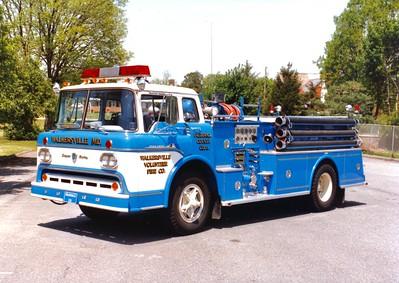 Former Engine 111, a 1958 Ford C850/Pirsch, 750/600, sn- PF-68.  Replaced in 1995.