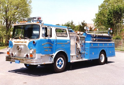 Former Engine 112 from Walkersville, a nice 1978 Mack CF, 1000/750, sn- CF686F10.  Sold to Beaver Township, Pennsylvania (Columbia County), in 2001.