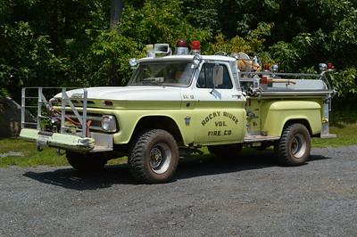 Beaten but not broken, Brush 13 is a 1964 Chevy 20 4x4/Howe, 300/300.  ex - Clarksville, Maryland (Howard County).