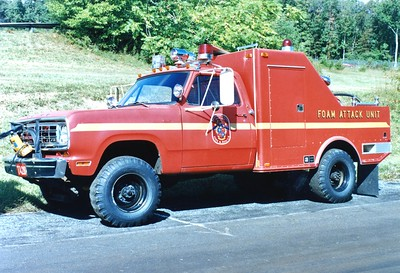 The Training Academy's 1975 Dodge/Ansul, 450# Purple K/100 AFFF.  ex - Silver Spring, Maryland.  Sold to Carroll Manor Fire Company (Frederick County), Maryland.