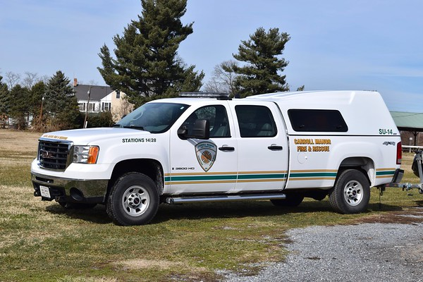 Special Unit 14, a 2008 GMC 3500 HD.  It's primary role is a boat support unit.