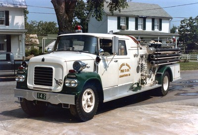 Engine 142, a 1962 International/American, 750/500.  Carroll Manor's first new truck.