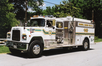 A very unusual Engine/Tanker 143 for the Carroll Manor Fire Company in Adamstown, Maryland.  1982 Mack R 686FC/3D Metals/2003 Local with a 1000/1500.