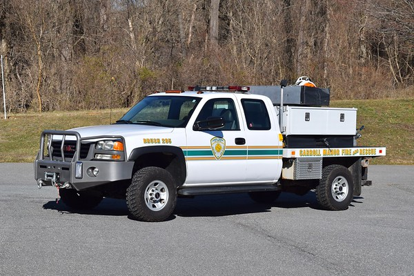 Brush 285 is a 2006 GMC Sierra 3500 with a 1998 skid unit, 250/215.